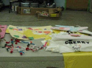 Arts and Crafts students' projects.