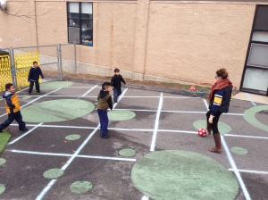 Kindergarten recess gets me moving!